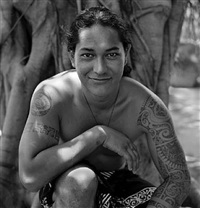mohi santos, marquesan artist, moorea, french polynesia by margo davis