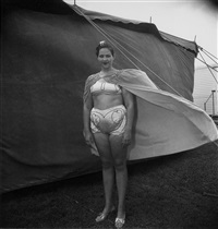 Girl in her circus costume, Md. 1970,, 1970