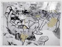 crash sketch #4 by rita ackermann
