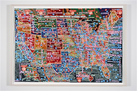 U.S. Area Codes and Time Zones by Paula Scher on artnet