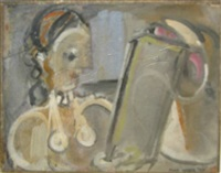 woman lookng at picture by max weber