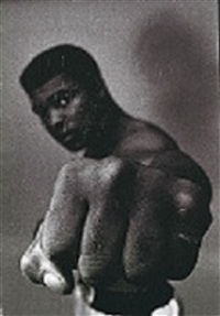 Ali showing of his left fist, 1966