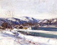 canal and river by walter emerson baum