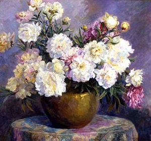peonies by laura d. stroud (mrs. westray) ladd