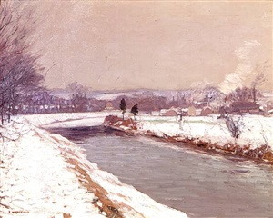 the canal, stockton by edward willis redfield