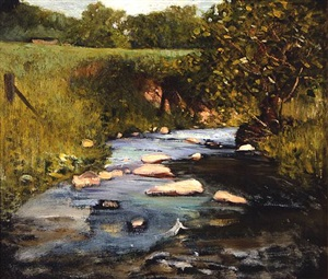 meadow stream by henry bayley snell