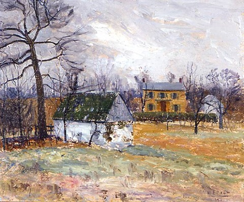 yellow farmhouse (side 1 of 2) by walter emerson baum