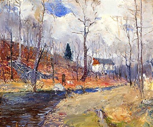 autumn at the mill (side 2 of 2) by walter emerson baum