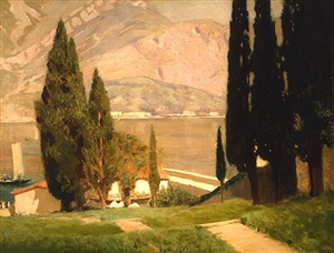 lake como by henry bayley snell