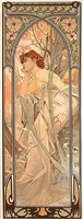 times of the day, reverie du soir by alphonse mucha