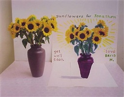 sunflowers for jonathan by david hockney