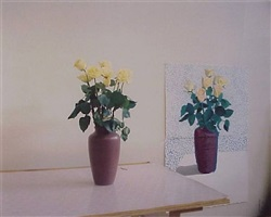 yellow roses by david hockney