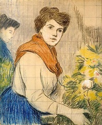 the flower seller by federico zandomeneghi