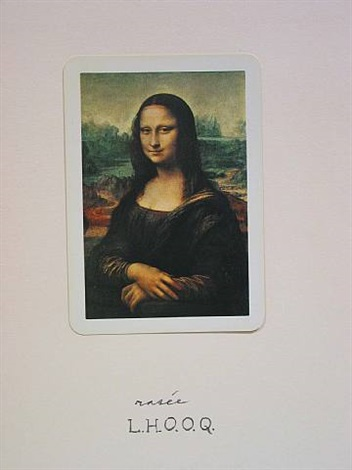 l.h.o.o.q. (rasee), january 13 by marcel duchamp