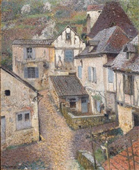 Saint-Cirq-Lapopie, View from the..., ca. 1930