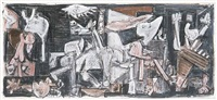 guernica 'c' (study for a print) by michael hurson