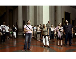 audience 3 (gallerie dell'accademia), florenz by thomas struth