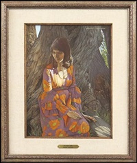seated girl by herbert laurence davidson