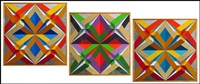 geometric compositions (triptych) by tony king