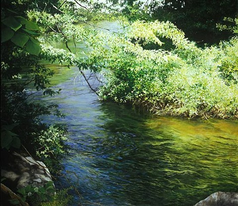 bend in the hammonasset river (sold) by cora ogden