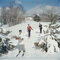 Skiing Waiters, Stowe, Vermont, 1962