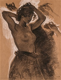 Half-Figure of a Female Semi-Nude, ca. 1894