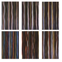 Brushstrokes in Different Colors in Two..., 1993