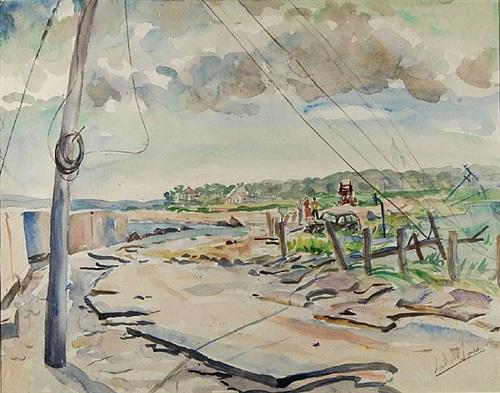 coastal road, martha's vineyard by lois mailou jones