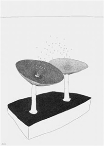 """drawing from the ongoing series """"the drawn exhibitions"""" by werner reiterer"""
