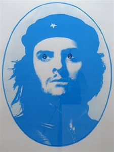 blue che (anarcho eyes) by gavin turk