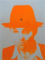 orange beuys (swastika hat) by gavin turk