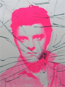 pink elvis (cracked pain) by gavin turk
