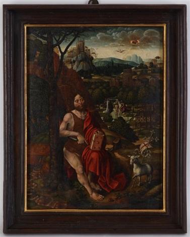 saint jean baptiste dans un paysage by flemish school 16