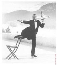 ice skating waiter by alfred eisenstaedt