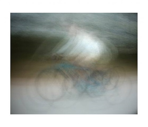 dynamism of a cyclist 2001 (after umberto boccioni) by jim campbell