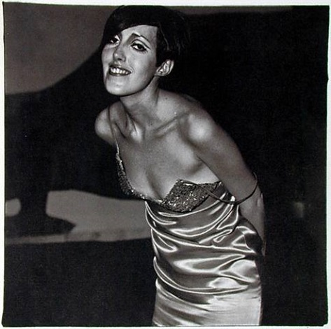 shiny dress by diane arbus