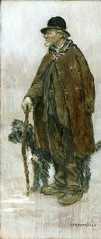 le cantonnier et son chien by jean françois raffaëlli