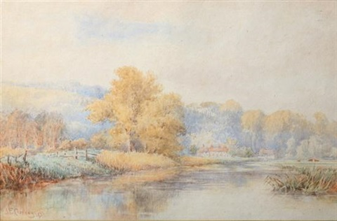 serenity on the pond by jasper francis cropsey