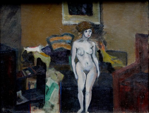 standing nude by louis bouché