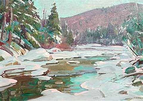 winter river by aldro thompson hibbard