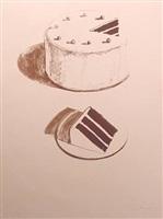 chocolate cake by wayne thiebaud
