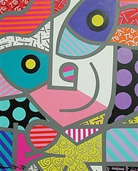 the grey girl by romero britto