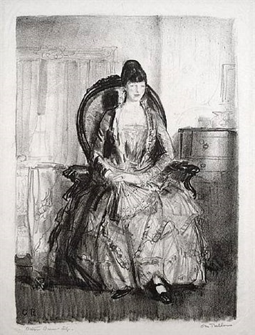 lady with a fan (or, emma in a chair) by george wesley bellows