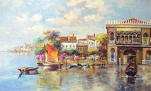 venetian scene by antoine blanchard