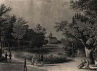 promenade in einem schloßpark by tobias dyonis raulino