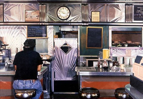 empire diner, herkimer by ralph goings