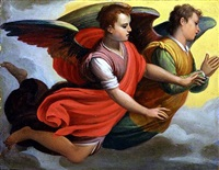 two angels facing right by agostino ciampelli