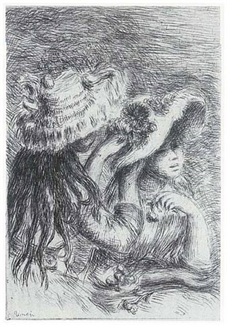 chapeau epingle (the hat secured with a pin) by pierre-auguste renoir