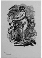 femme au cep de vigne (variante) by pierre-auguste renoir