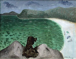 dog by the sea by milton avery